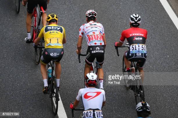 5th Tour de France Saitama Criterium 2017 Christopher FROOME Yellow Leader Jersey / Warren BARGUIL Polka Dot Mountain Jersey / Renson / Fumiyuki...