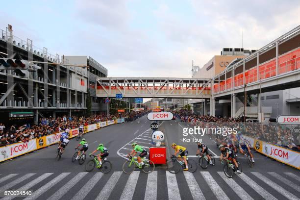 5th Tour de France Saitama Criterium 2017 Christopher FROOME Yellow Leader Jersey / Mark CAVENDISH / Peloton / Landscape / Saitama Saitama / TDF...