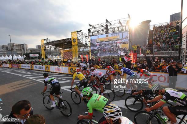 5th Tour de France Saitama Criterium 2017 Start / Christopher FROOME Yellow Leader Jersey / Peloton / Saitama Saitama / TDF Saitama Criterium / ©Tim...