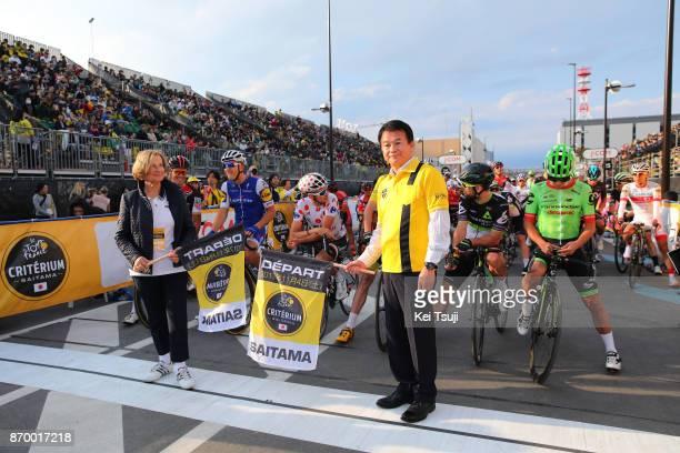 5th Tour de France Saitama Criterium 2017 Start / Hayato SHIMIZU Mayor of Saitama City / Saitama Saitama / TDF Saitama Criterium / ©Tim De...