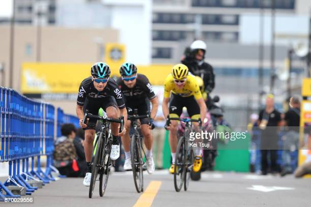 5th Tour de France Saitama Criterium 2017 Team SKY / Kenny ELISSONDE / Christopher FROOME Yellow Leader Jersey / Michal GOLAS / Team Time Trial /...