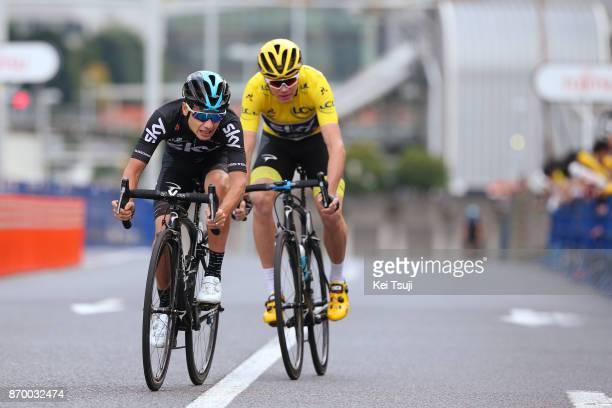 5th Tour de France Saitama Criterium 2017 Team SKY / Kenny ELISSONDE / Christopher FROOME Yellow Leader Jersey / Team Time Trial / Saitama Saitama /...