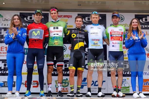 63rd Ruta del Sol 2017 / Stage 4 Podium / Alejandro VALVERDE Red Leader Jersey/ Georg PREIDLER Green Mountain Jersey / Bryan COQUARD / Daniel TUREK...