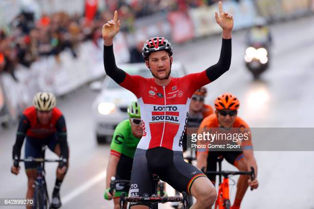 63rd Ruta del Sol 2017 / Stage 5 Arrival / Tim WELLENS / Celebration / Setenil de las Bodegas Coin / Vuelta a Andalucia /