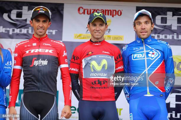 63rd Ruta del Sol 2017 / Stage 5 Podium / Aberto CONTADOR / Alejandro VALVERDE Red Leader Jersey/ Thibaut PINOT Celebration / Setenil de las Bodegas...