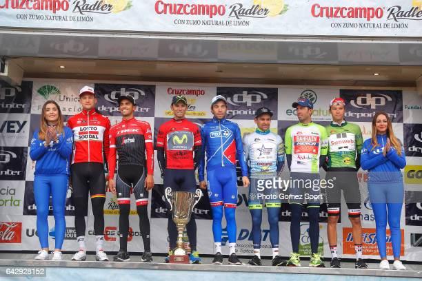 63rd Ruta del Sol 2017 / Stage 5 Podium / Tim WELLENS / Aberto CONTADOR / Alejandro VALVERDE Red Leader Jersey/ Thibaut PINOT / Georg PREIDLER Green...