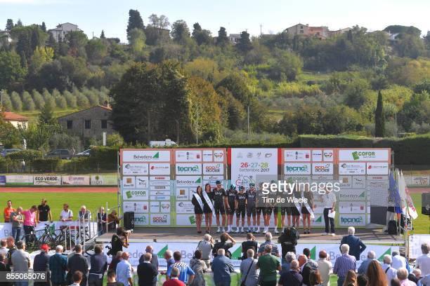 65th Gran Premio Coppa Sabatini 2017 Start / Podium / Team SKY / Ian BOSWELL / Jonathan DIBBEN / Tao GEOGHEGAN HART / Elia VIVIANI / Kevin ELISSONDE...