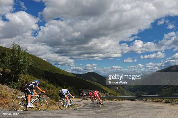 66th Tour of Spain 2011 / Stage 13 Illustration Illustratie / Puerto de Ancares 1670m / Peleton Peloton / Clouds Nuages Wolken / Landscape Paysage...