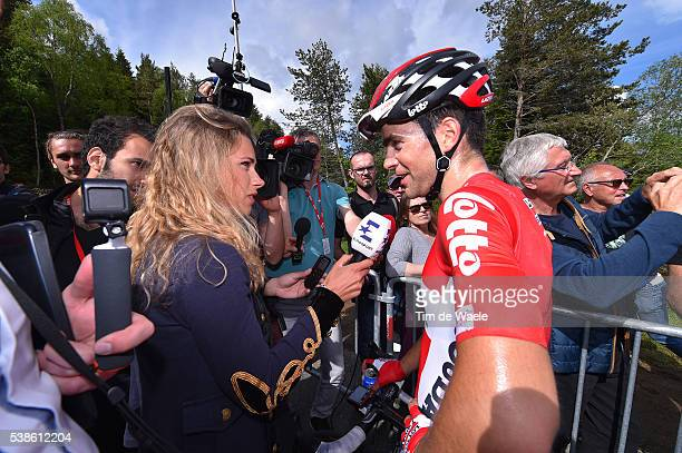 68th Criterium du Dauphine 2016 / Stage 2 Arrival / Tony GALLOPIN / Marion ROUSSE Wife TV Journalist / CrechessurSaone / Chalmazel Jeansagniere 1114m...