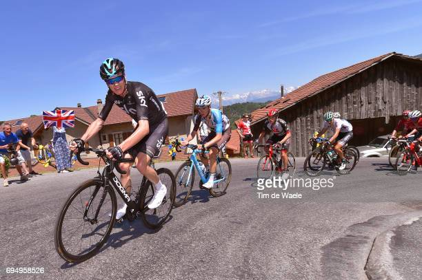 69th Criterium du Dauphine 2017 / Stage 8 Christopher FROOME / Romain BARDET / Louis MEINTJES / Emanuel BUCHMANN White Best Young Jersey/ Albertville...