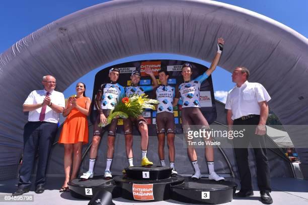 69th Criterium du Dauphine 2017 / Stage 8 Podium / Romain BARDET / Pierre LATOUR / Alexis VUILLERMOZ / Oliver NAESEN / Team AG2R La Mondiale Best...