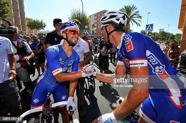 69th Tour of Spain 2014 / Stage 2 Arrival / BOUHANNI Nacer / MANGEL Laurent / Celebration Joie Vreugde / Algeciras San Fernando / Vuelta Tour...