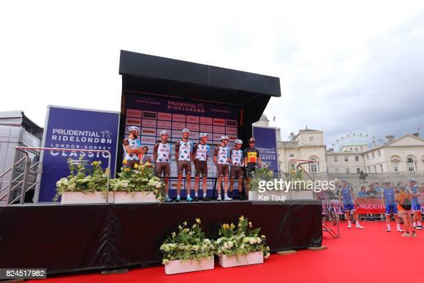 6th Prudential RideLondonSurrey Classic 2017 / Men Start / Team Ag2r La Mondiale / Gediminas BAGDONAS / Rudy BARBIER / Julien DUVAL / Ben GASTAUER /...
