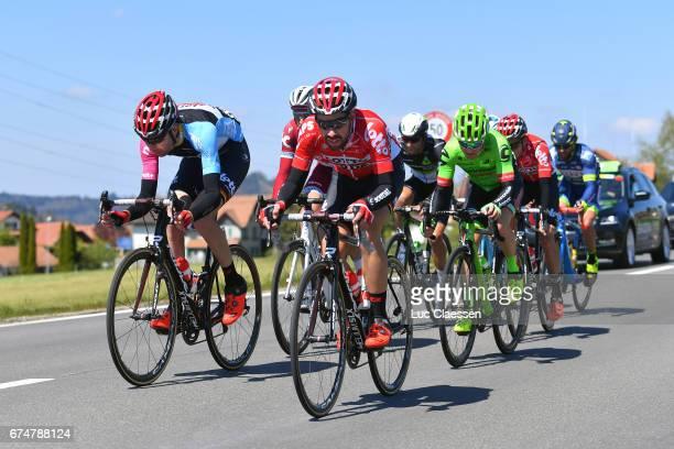71st Tour de Romandie 2017 / Stage 4 Thomas DE GENDT / Sander ARMEE Mountain Jersey / Simon CLARKE / Domdidier Leysin 1315m /