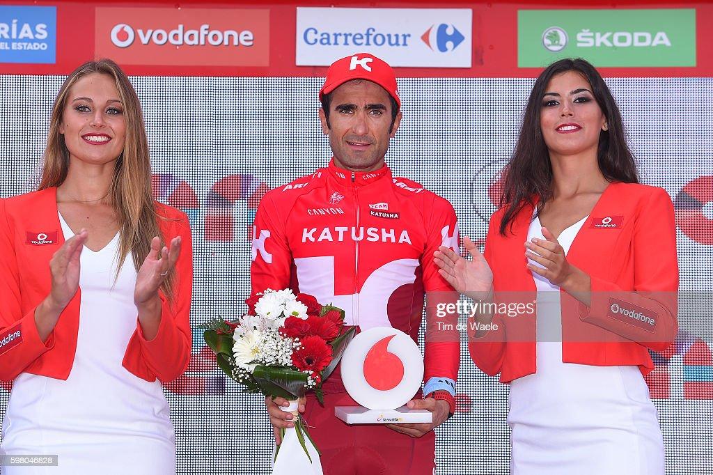 71st Tour of Spain 2016 / Stage 11 Podium / Tiago MACHADO Most Combative Rider /Celebration / Colunga / Museo Jurásico Peña Cabarga 565m / La Vuelta /