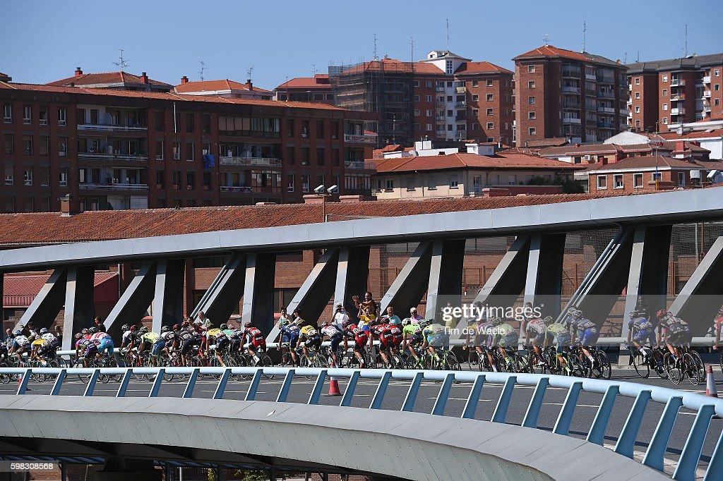 71st Tour of Spain 2016 / Stage 12 Illustration / BILBAO City / Landscape / Peloton / Bridge / Los Corrales de Buelna - Bilbao (193,2km)/ La Vuelta /