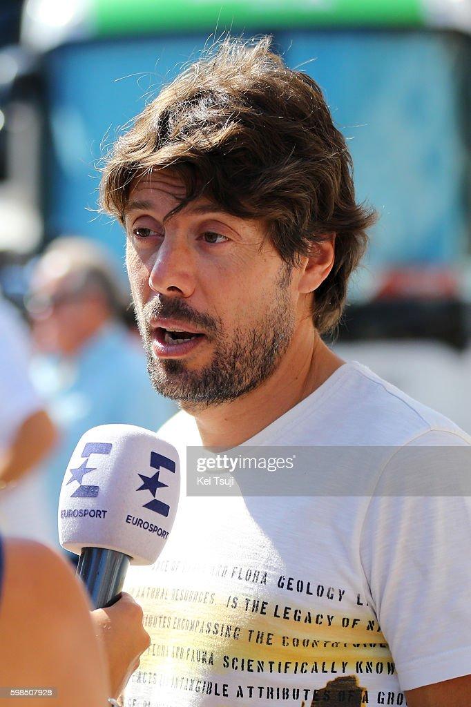71st Tour of Spain 2016 / Stage 12 Oscar FREIRE (ESP)/ Interview Press Media / Los Corrales de Buelna - Bilbao (193,2km)/ La Vuelta /