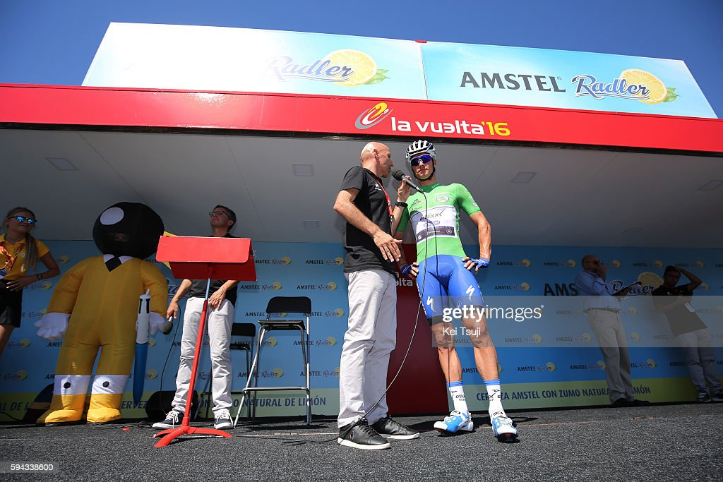 71st Tour of Spain 2016 / Stage 3 Start Podium / Gianni MEERSMAN (BEL) Green Points Jersey / Marin - Dumbria. Mirador de Ezaro 260m (176,4km)/ La Vuelta /