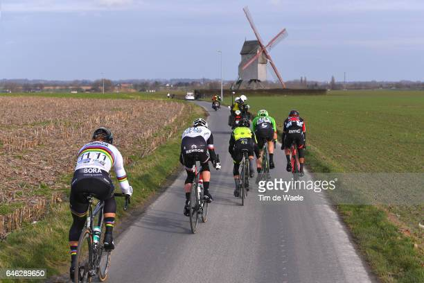 72nd Omloop Het Nieuwsblad 2017 / Men Peter SAGAN / Mike TEUNISSEN / Sep VANMARCKE / Greg VAN AVERMAET / Landscape / Mill wind / Gent Gent / Men /...