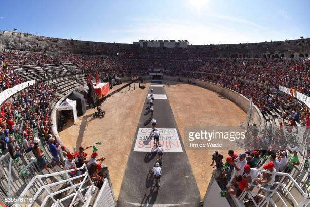 72nd Tour of Spain 2017 / Stage 1 Team Aqua Blue Sport / Adam BLYTHE / Mark CHRISTIAN / Stefan DENIFL / Aaron GATE / Lasse Norman HANSEN / Michel...