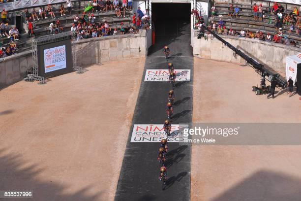 72nd Tour of Spain 2017 / Stage 1 Team Bahrain Merida Pro Cycling Team / Vincenzo NIBALI / Valerio AGNOLI / Manuele BOARO / Ivan GARCIA CORTINA /...