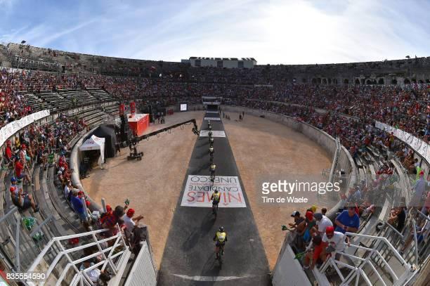 72nd Tour of Spain 2017 / Stage 1 Team LottoNLJumbo / Steven KRUIJSWIJK / George BENNETT / Antwan TOLHOEK / Koen BOUWMAN / Stef CLEMENT / Floris DE...
