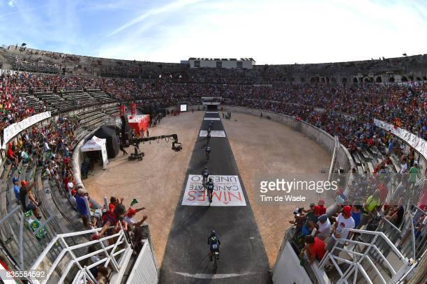 72nd Tour of Spain 2017 / Stage 1 Team MOVISTAR / ARCAS Jorge / Carlos BETANCUR / Richard CARAPAZ / Ruben FERNANDEZ / Daniel MORENO / Nelson OLIVEIRA...