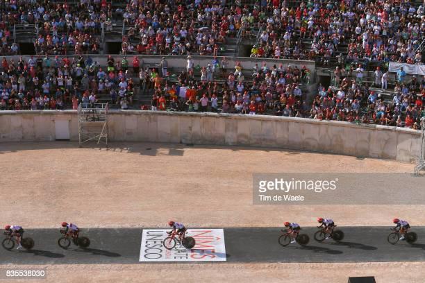 72nd Tour of Spain 2017 / Stage 1 Team UAE Team Emirates / Rui FARIA DA COSTA / John Darwin ATAPUMA / Anass AIT EL ABDIA / Louis MEINTJES / Sacha...