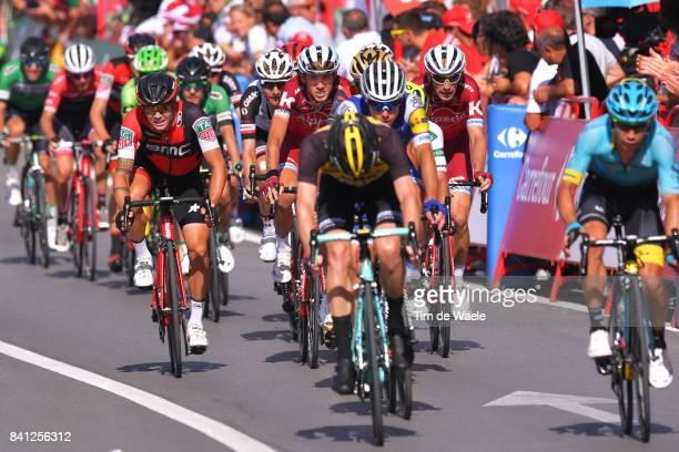72nd Tour of Spain 2017 / Stage 12 Arrival / Steven KRUIJSWIJK / Miguel Angel LOPEZ / David DE LA CRUZ / Nicolas ROCHE / Ilnur ZAKARIN / Michael...