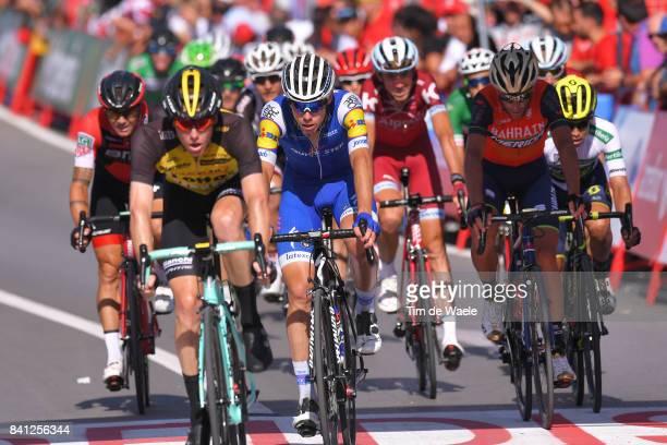 72nd Tour of Spain 2017 / Stage 12 Arrival / Steven KRUIJSWIJK / David DE LA CRUZ / Vincenzo NIBALI / Johan Esteban CHAVES White Combined Jersey /...