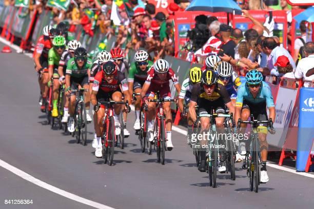 72nd Tour of Spain 2017 / Stage 12 Arrival / Steven KRUIJSWIJK / Miguel Angel LOPEZ / David DE LA CRUZ / Nicolas ROCHE / Ilnur ZAKARIN / Fabio ARU /...