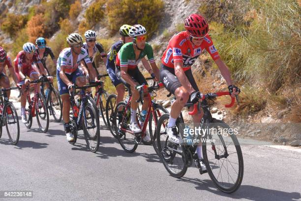 72nd Tour of Spain 2017 / Stage 15 Christopher FROOME Red Leader Jersey /Fabio ARU / Vincenzo NIBALI White Combined Jersey / Ilnur ZAKARIN / Alcala...