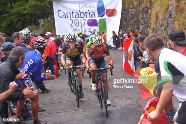 72nd Tour of Spain 2017 / Stage 17 Vincenzo NIBALI / Steven KRUIJSWIJK / Ilnur ZAKARIN / Michael WOODS / Villadiego Los Machucos Monumento Vaca...