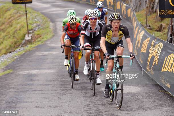 72nd Tour of Spain 2017 / Stage 17 Steven KRUIJSWIJK / Wilco KELDERMAN / Vincenzo NIBALI / Villadiego Los Machucos Monumento Vaca PasiegaAlto de los...