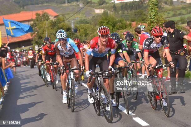 72nd Tour of Spain 2017 / Stage 19 Bob JUNGELS / Romain BARDET /Matej MOHORIC / Antonio PEDRERO / Caso Parque Natural de Redes Gijon / La Vuelta /