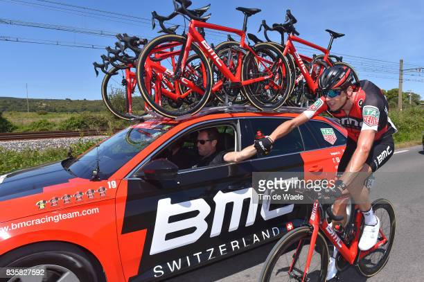 72nd Tour of Spain 2017 / Stage 2 Kilian FRANKINY / Team BMC Racing Team / Feed Zone / Bottle / Car / Nimes Gruissan Grand NarbonneAude / La Vuelta /
