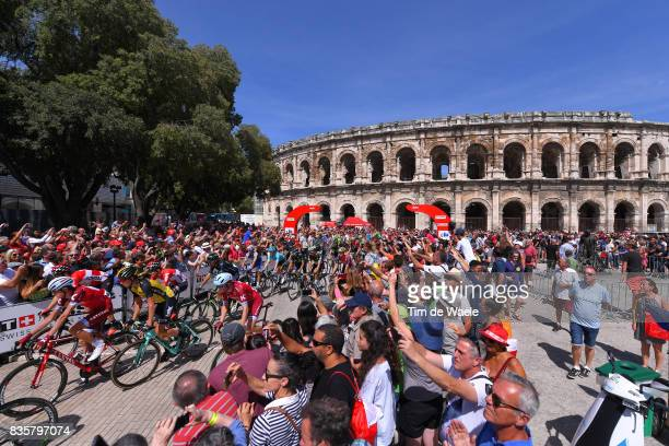 72nd Tour of Spain 2017 / Stage 2 Start / Ilnur ZAKARIN / Peloton / Fans / Public / Nimes City / Arena of Nimes / Nimes Gruissan Grand NarbonneAude /...