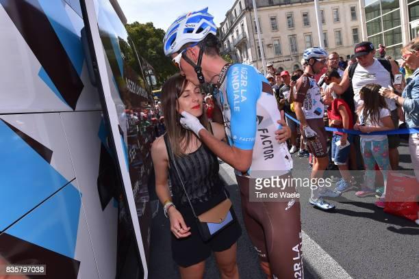 72nd Tour of Spain 2017 / Stage 2 Start / Romain BARDET / Amandine CID Girlfriend / Team AG2R La Mondiale / Nimes City / Nimes Gruissan Grand...