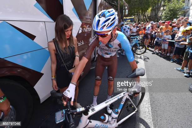 72nd Tour of Spain 2017 / Stage 2 Start / Romain BARDET / Amandine CID Girlfriend / Team AG2R La Mondiale / Factor Bike / Fans / Public / Nimes City...