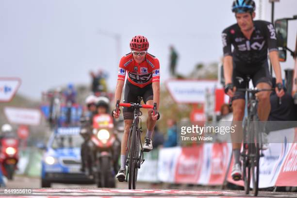 72nd Tour of Spain 2017 / Stage 20 Arrival / Christopher FROOME Red Leader Jersey / Wout POELS / Celebration / Corvera de Asturias Alto de L'Angliru...