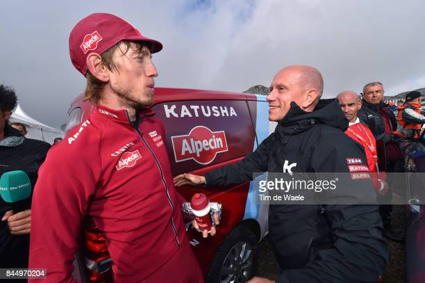 72nd Tour of Spain 2017 / Stage 20 Arrival / Ilnur ZAKARIN / Jose AZEVEDO Team KatushaAlpecin Manager / Celebration / Corvera de Asturias Alto de...