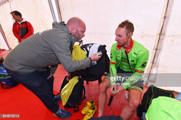 72nd Tour of Spain 2017 / Stage 20 Arrival / Wilco KELDERMAN / Media / Interview / Corvera de Asturias Alto de L'Angliru 1560m / La Vuelta /