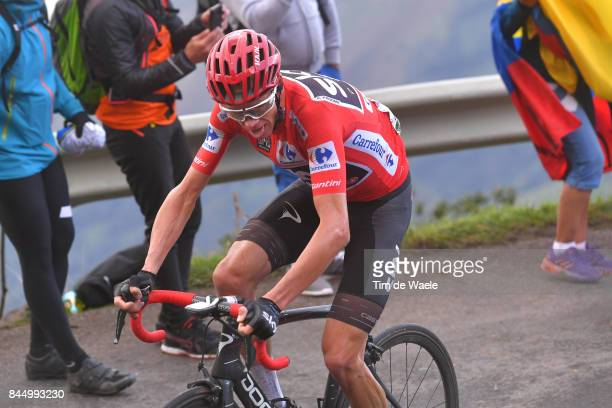 72nd Tour of Spain 2017 / Stage 20 Christopher FROOME Red Leader Jersey / Corvera de Asturias Alto de L'Angliru 1560m / La Vuelta /