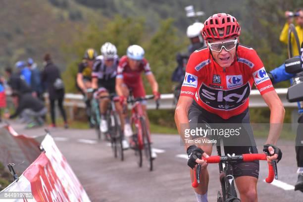 72nd Tour of Spain 2017 / Stage 20 Christopher FROOME Red Leader Jersey / Ilnur ZAKARIN / Wilco KELDERMAN / Steven KRUIJSWIJK / Corvera de Asturias...