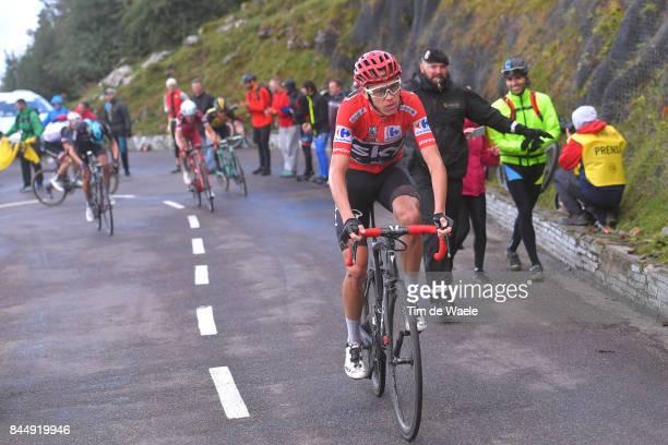 72nd Tour of Spain 2017 / Stage 20 Christopher FROOME Red Leader Jersey / Wout POELS / Ilnur ZAKARIN / Steven KRUIJSWIJK / Corvera de Asturias Alto...
