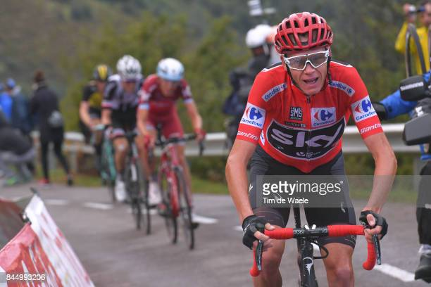 72nd Tour of Spain 2017 / Stage 20 Christopher FROOME Red Leader Jersey / Ilnur ZAKARIN / Corvera de Asturias Alto de L'Angliru 1560m / La Vuelta /