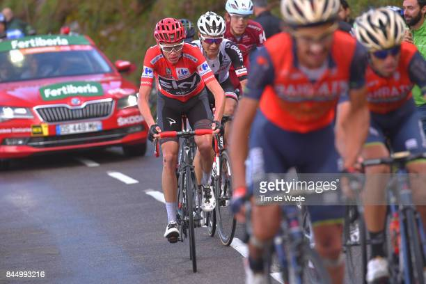 72nd Tour of Spain 2017 / Stage 20 Christopher FROOME Red Leader Jersey / Wilco KELDERMAN / Ilnur ZAKARIN / Corvera de Asturias Alto de L'Angliru...