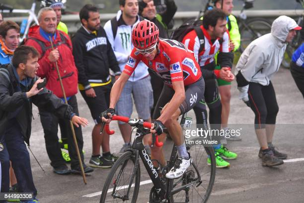 72nd Tour of Spain 2017 / Stage 20 Christopher FROOME Red Leader Jersey / Fans / Public / Corvera de Asturias Alto de L'Angliru 1560m / La Vuelta /