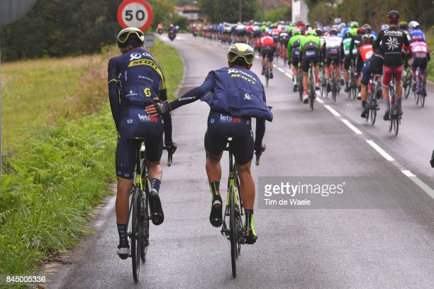 72nd Tour of Spain 2017 / Stage 20 Christopher JUUL JENSEN / Sanitair Stop Pipi Toilet WC / Team ORICAScott / Corvera de Asturias Alto de L'Angliru...