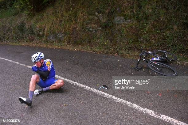 72nd Tour of Spain 2017 / Stage 20 David DE LA CRUZ / Crash / Injury / Corvera de Asturias Alto de L'Angliru 1560m / La Vuelta /